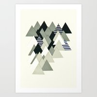 French Alps at Dusk Art Print