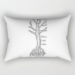 Arbores Loqui Latine Black and White Rectangular Pillow