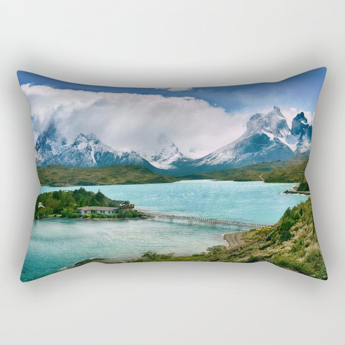 Magestic Landscape #photography #society6 #ocean#mountians Rectangular Pillow