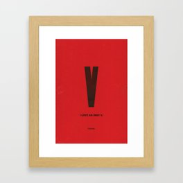 Typeporn Vol.1 Framed Art Print