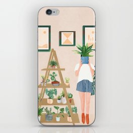 Wooden floors, walls and window sills iPhone Skin