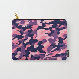 Pink Purple Camouflage Carry-All Pouch