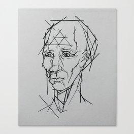 Mr. Linear Canvas Print