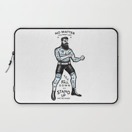 STAND UP AND TRY AGAIN (White) Laptop Sleeve