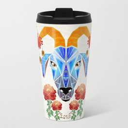 chinese goat Travel Mug