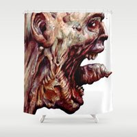 pain Shower Curtains featuring Pain by Roland Prinsler