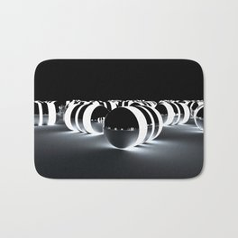 Tron Caps - Cinema 4D - Glow Light - Manafold Art Bath Mat