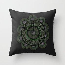 The Grey Flower Throw Pillow