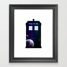 Space in TARDIS Framed Art Print
