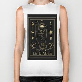 Le Diable or The Devil Tarot Gold Biker Tank