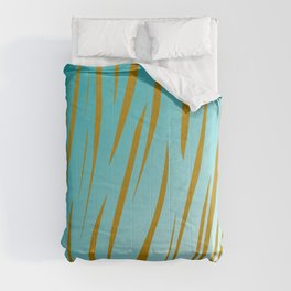 gold lines on blue. Exotic lines Comforters