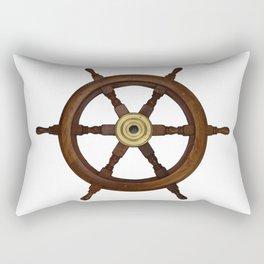 old oak steering wheel for ship or boat Rectangular Pillow