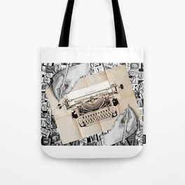 Drawing Hands and Writing Hands Tote Bag