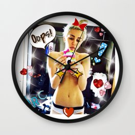 Miley's Selfie Wall Clock