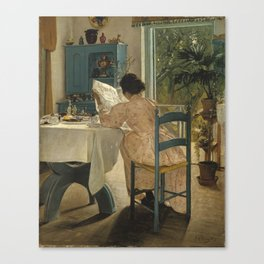 Laurits Andersen Ring 1854 - 1933 DANISH HARVEST TIME, LADBY Canvas Print