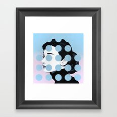 Audrey (Dots) by Famous When Dead Framed Art Print