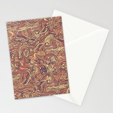 Abstract colorful hand drawn curly pattern design Stationery Cards
