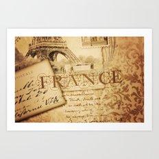 I ♥ France Art Print