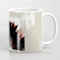 godzilla Mugs featuring Godzilla by Sabine Israel