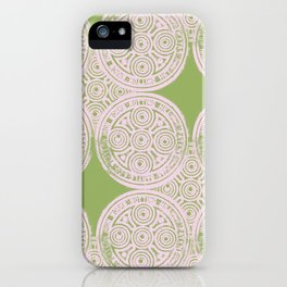 notting hill: olive & ballet pink iPhone Case