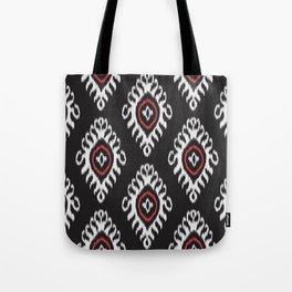 IKAT pattern 01, black Tote Bag