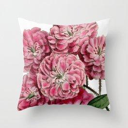 Bramble-Flowered Rose / W. Curtis 1857 Throw Pillow