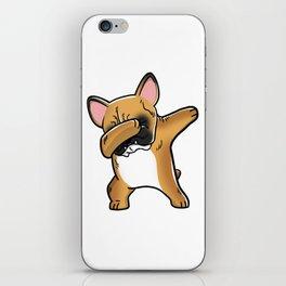 Funny Fawn French Bulldog Dabbing iPhone Skin