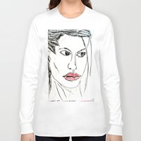 angelina jolie Long Sleeve T-shirts featuring ANGELINA JOLIE by JANUARY FROST