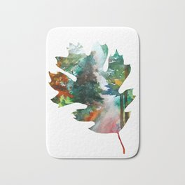 Autumn Leaf Art Bath Mat