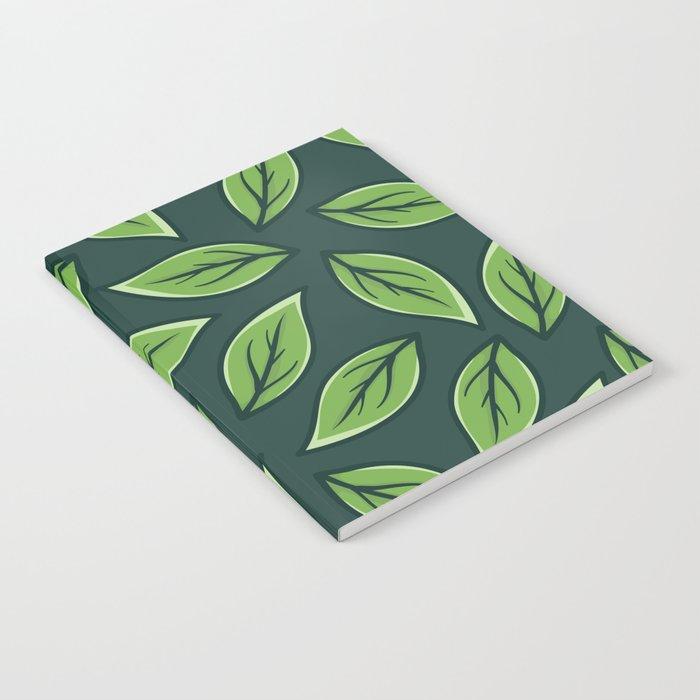 Green Leaf Pattern Notebook
