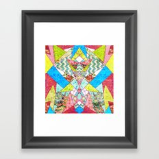 Geometric Quilt Framed Art Print