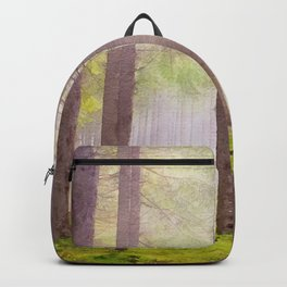 Scottish forest watercolor painting #2 Backpack
