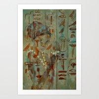 egypt Art Prints featuring Egypt by pledent