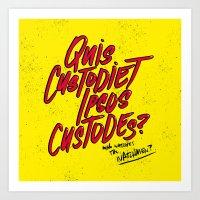 watchmen Art Prints featuring Watchmen by Chelsea Herrick