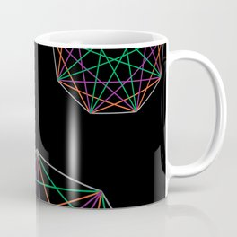 Nonagon Triad Black Coffee Mug