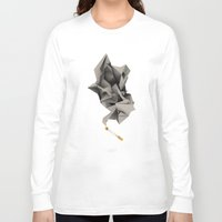 low poly Long Sleeve T-shirts featuring Low Poly Cig Break by Lewis Kent