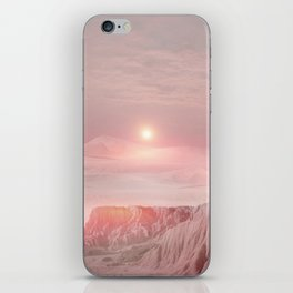 Pastel desert iPhone Skin