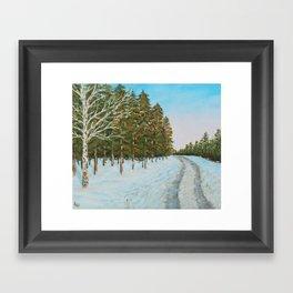 Frozen Path Framed Art Print