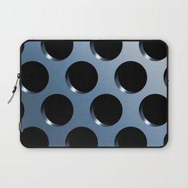 Cool Steel Graphic Art Like Polka Dots Laptop Sleeve