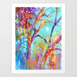 January Tree Art Print