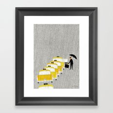 Taxi, New York Framed Art Print