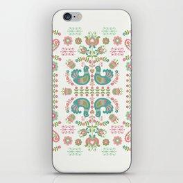 Pop Folk birds iPhone Skin