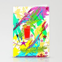 cocktail Stationery Cards featuring Cocktail by LoRo  Art & Pictures