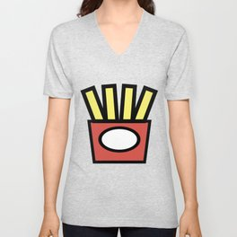 Fries Lover Design Cute And Funny Food Gift Idea Unisex V-Neck