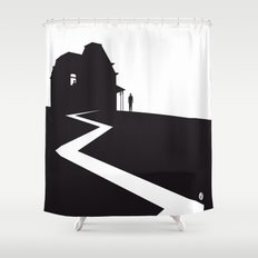 The Black Collection' Hitchcock Movie Shower Curtain