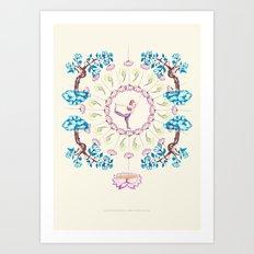yoga garden V Art Print