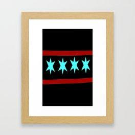 Chicago Flag (traditional) Framed Art Print