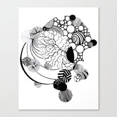 Abstraction in Nature Tattoo Sleeve Design Canvas Print