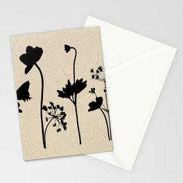 Dark Shadow Butterfly Garden Stationery Cards