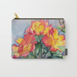Watercolor Tea Roses Carry-All Pouch